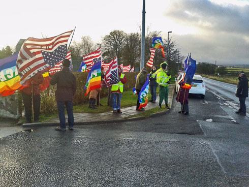 New Year demonstration at Menwith Hill
